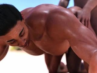 A 3D Gay Porn Animation Beach Fuck